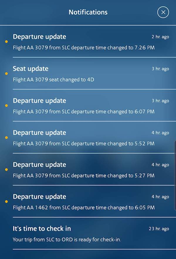 AA App Notifications