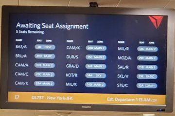 Awaiting Seat Assignment Display