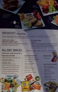 Breakfast Snack Menu